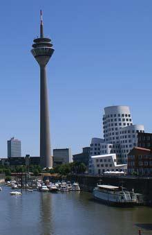 Der Fernsehturm in Düsseldorf