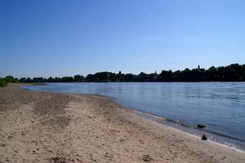Rheinstrand bei Düsseldorf